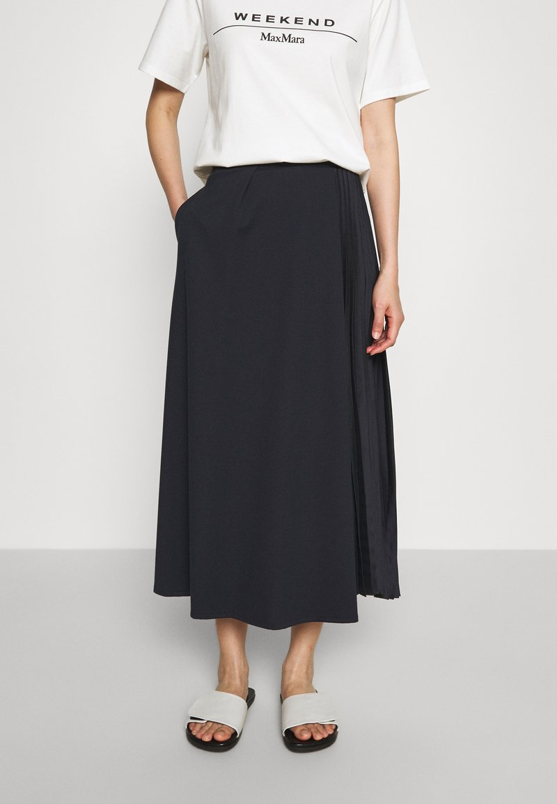 WEEKEND MaxMara - Veckad kjol - blue