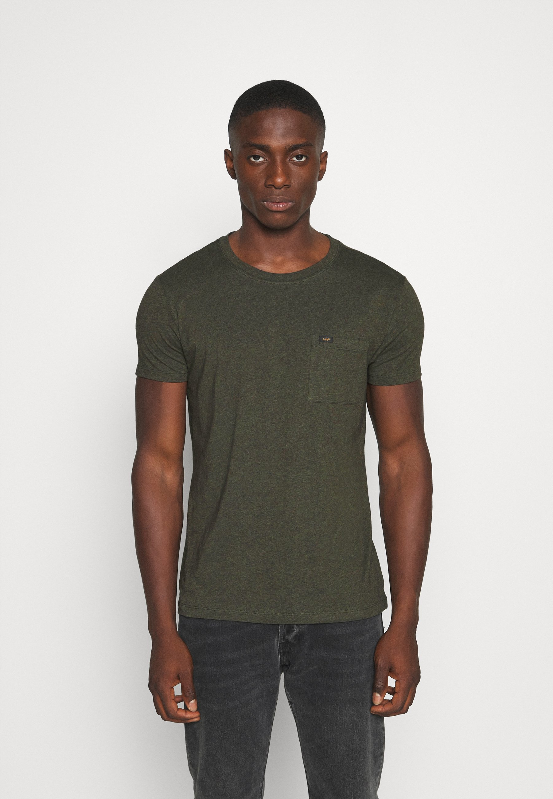 Lee SHAPED TEE - T-shirts - serpico green
