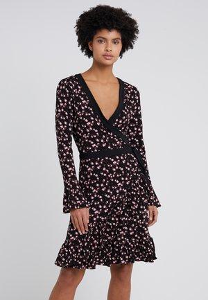 ROSE WRAP - Jersey dress - black/dusty rose