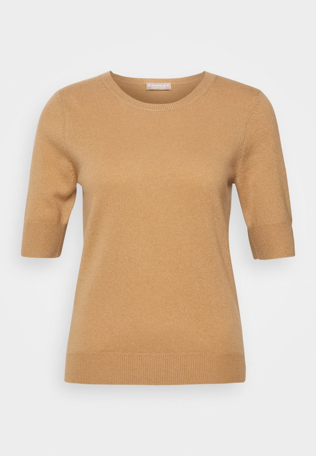 T-shirt basic - camel