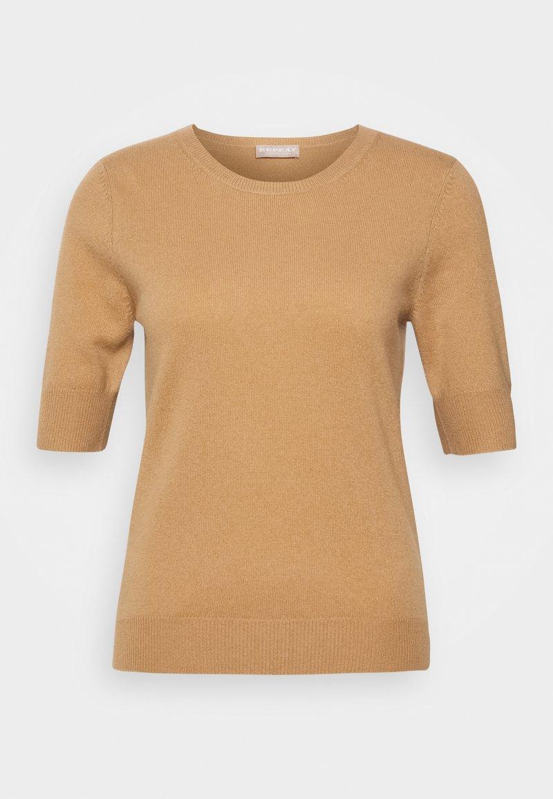 Repeat - T-shirt basic - camel