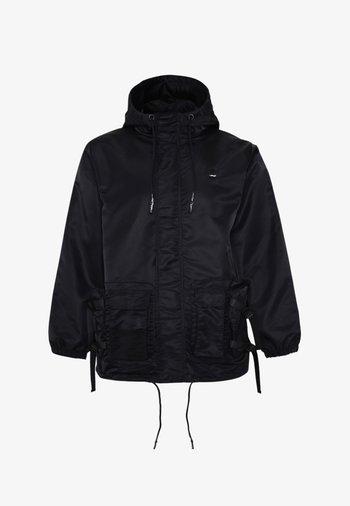 TIGER-BELLOWS HOODED JACKET - Summer jacket - black