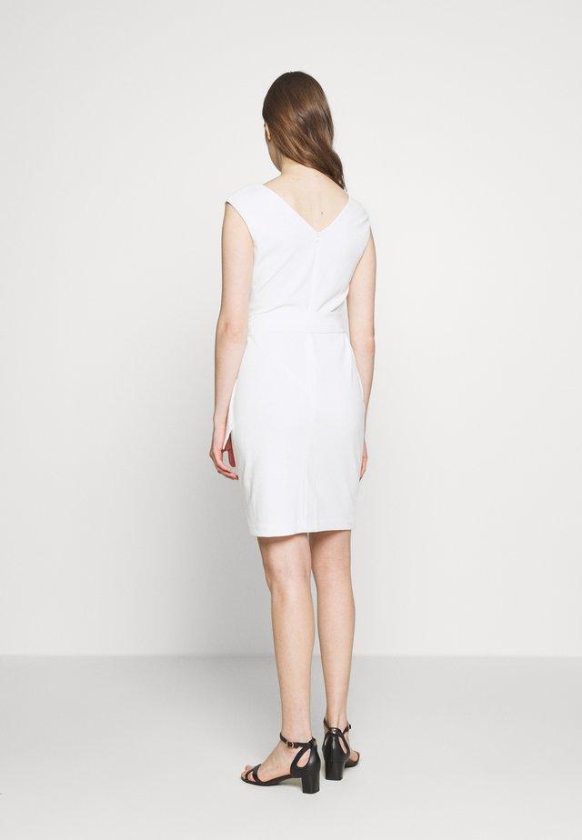 LUXE TECH DRESS - Shift dress - cream
