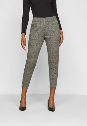 KATE GRID - Trousers - black