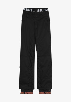 SKI SNOWBOARD PANT PLAIN - Snow pants - black