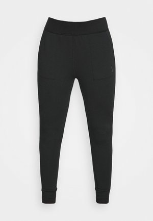 CORE 7/8 - Tracksuit bottoms - black/dark smoke grey