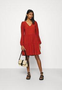 ONLY - ONLFRIDA V NECK DRESS  - Jersey dress - arabian spice - 1