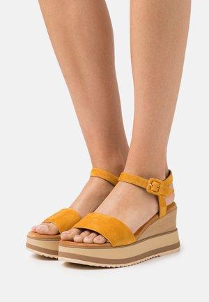 KOLLA - Platform sandals - mustard