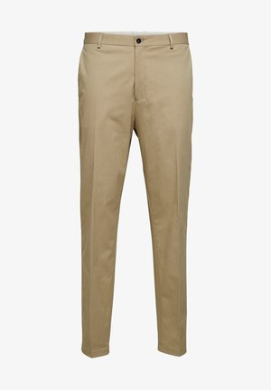 SELECTED HOMME ANZUGHOSE SLIM TAPERED FIT - Trousers - crockery