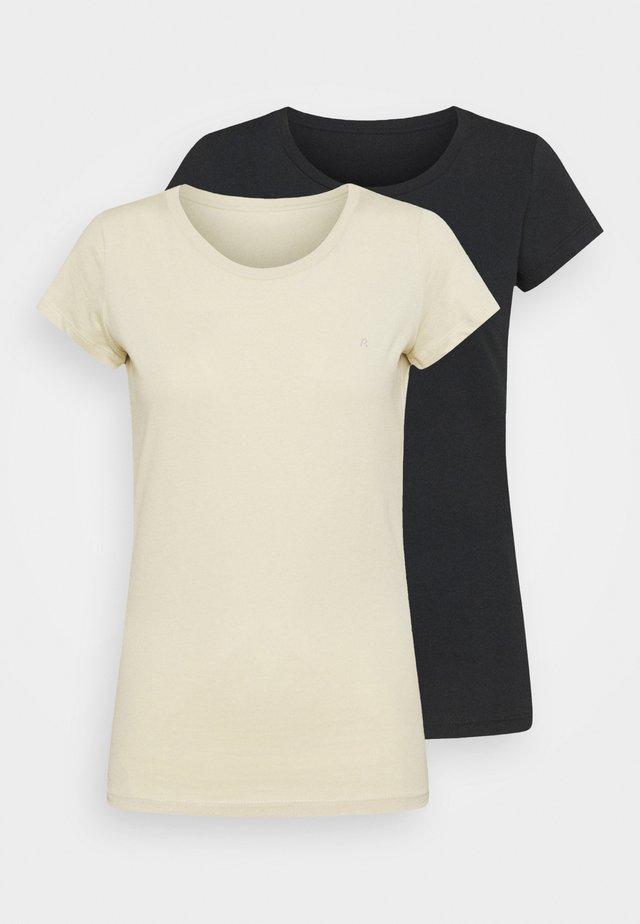 2 PACK - T-shirt basique - blackboard