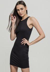 Urban Classics - BACK CUT OUT DRESS - Day dress - black - 0