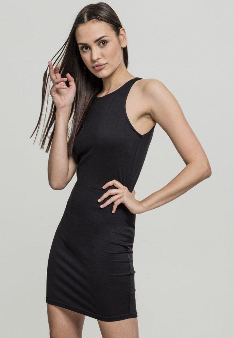 Urban Classics - BACK CUT OUT DRESS - Day dress - black