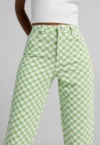 Bershka - Straight leg jeans - green - 3