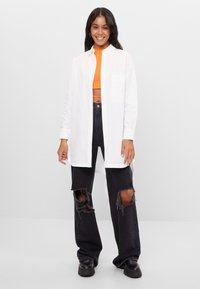 Bershka - Button-down blouse - white - 1
