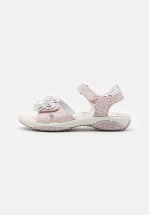 Sandaalit nilkkaremmillä - rosa/argento