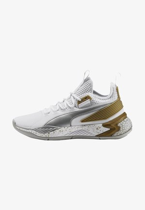 Basketball shoes - puma white-metallic silver