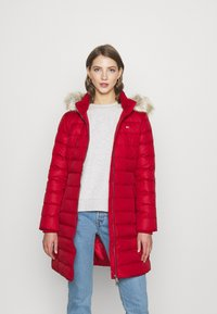 Tommy Jeans - ESSENTIAL HOODED COAT - Down coat - wine red - 0