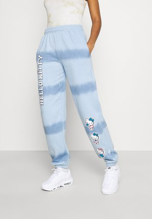HELLO TIE DYE JOGGER - Pantalon de survêtement - blue