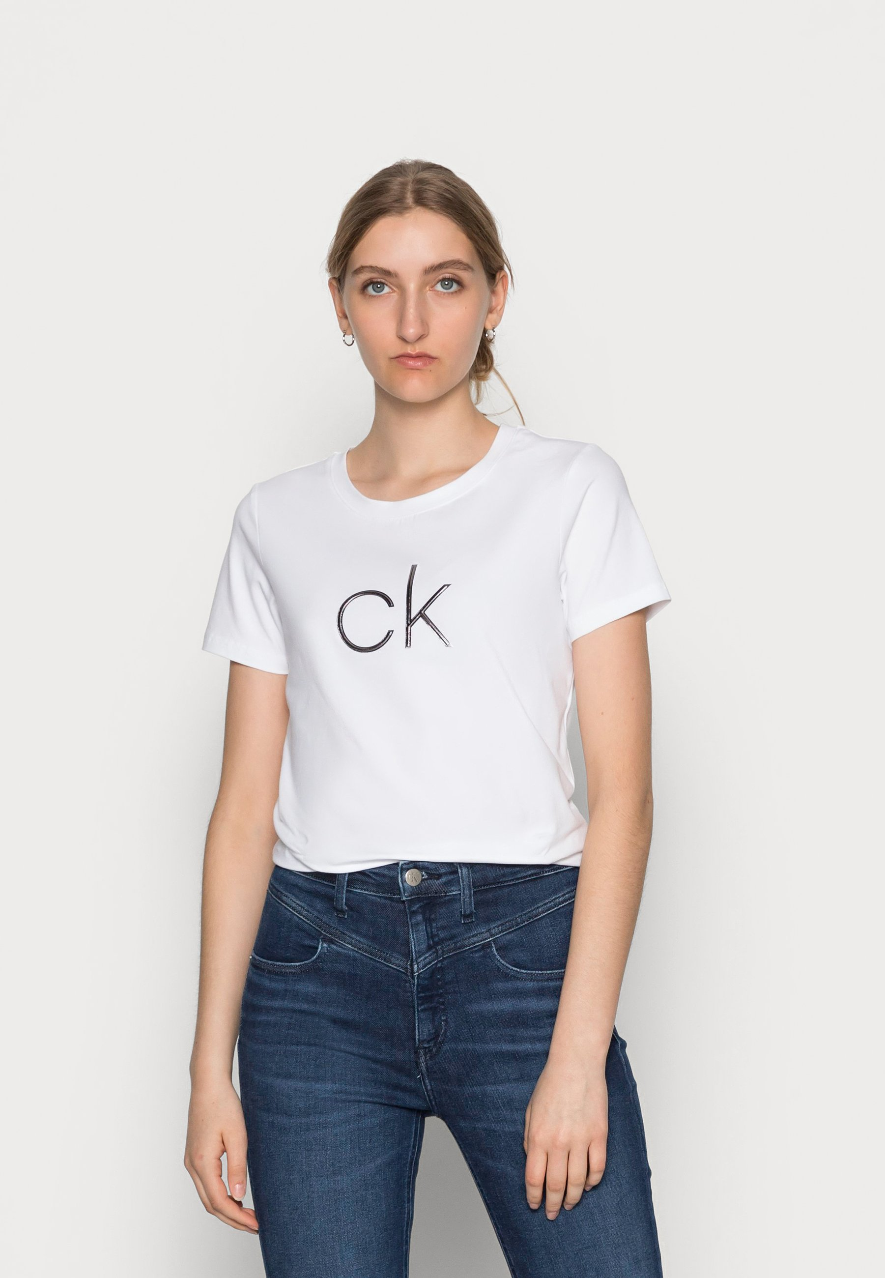 Damen EMBOSSED SHINE - T-Shirt print