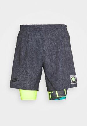 SHORT - Short de sport - black/hot lime/neo teal/black