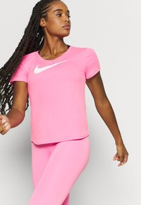 Nike Performance - RUN - T-Shirt print - pink glow/white - 3