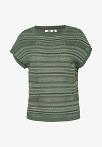 WE Fashion - WE FASHION DAMEN-FEINSTRICKPULLOVER - Print T-shirt - green - 4