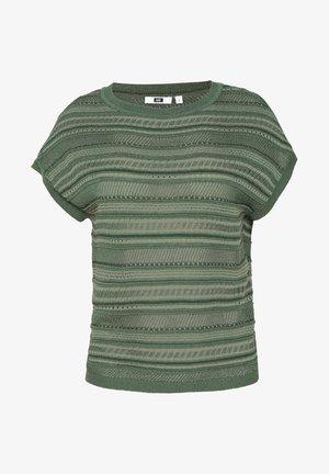 WE FASHION DAMEN-FEINSTRICKPULLOVER - Print T-shirt - green