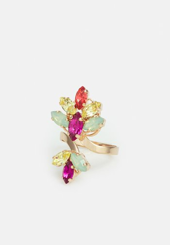 DOUBLE CRYSTAL CLUSTER - Ring - multi colors
