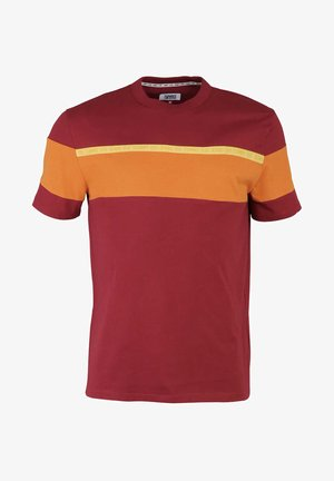 T-shirt con stampa - orange - rot