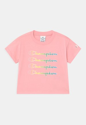 COLOR LOGO CREWNECK - Print T-shirt - pink