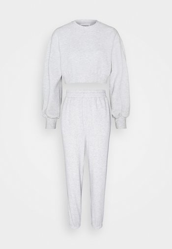 SET - balloon sleeve sweat & regular joggers - Tracksuit - white