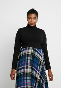 Anna Field Curvy - BASIC LONG SLEEVE TOP - Long sleeved top - black - 0