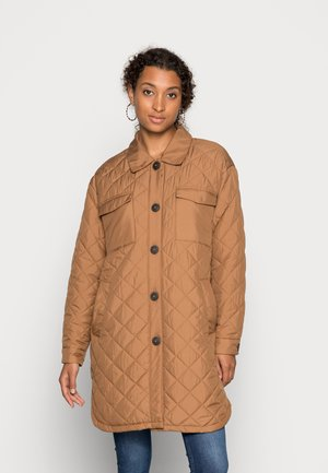 ONLTANZIA LONG QUILTED SHACKET  - Giacca da mezza stagione - toasted coconut