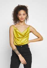 Missguided Petite - COWL NECK BODYSUIT - Topper - yellow - 0