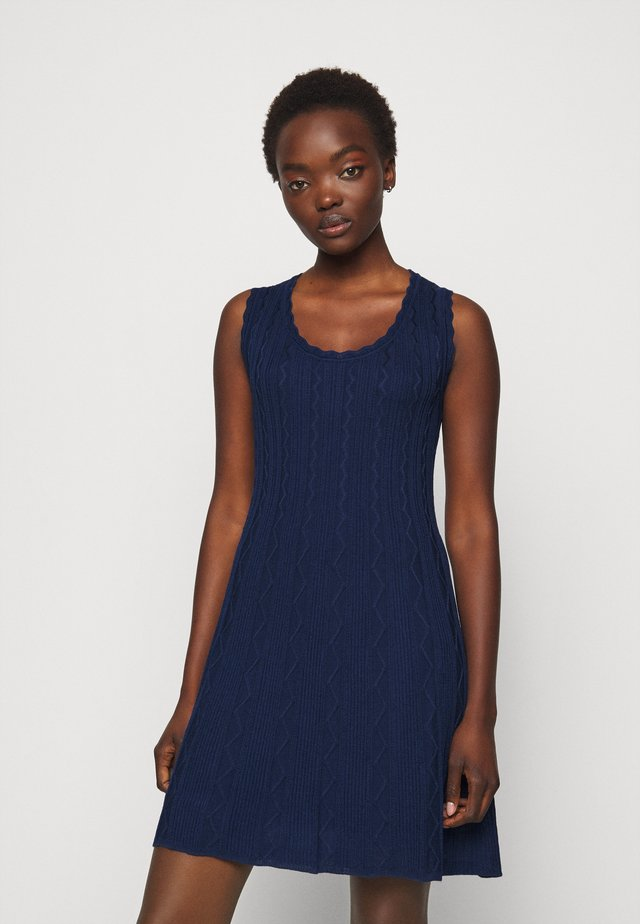 ABITO SENZA MANICHE - Jumper dress - dark blue