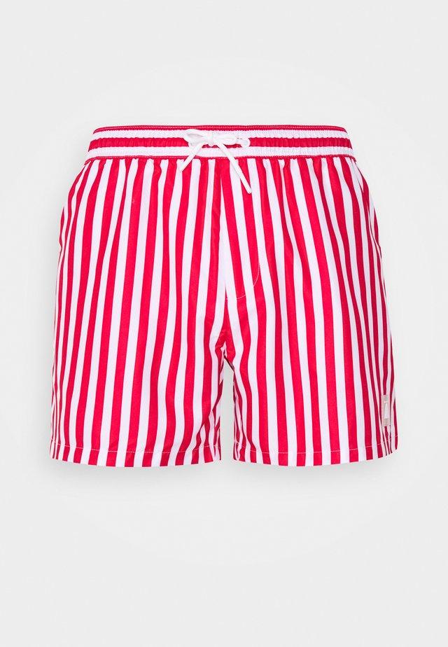 STRIPE SWIM - Swimming shorts - red