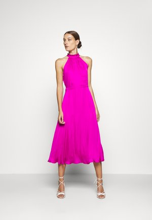 HALTER MIDI - Vestito estivo - hot bright pink