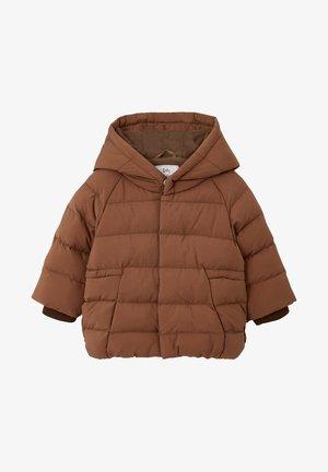 MIT KAPUZE - Winter jacket - hellbraun