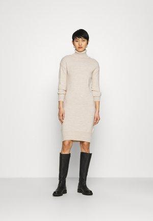 COSY ROLL NECK DRESS - Jumper dress - oatmeal