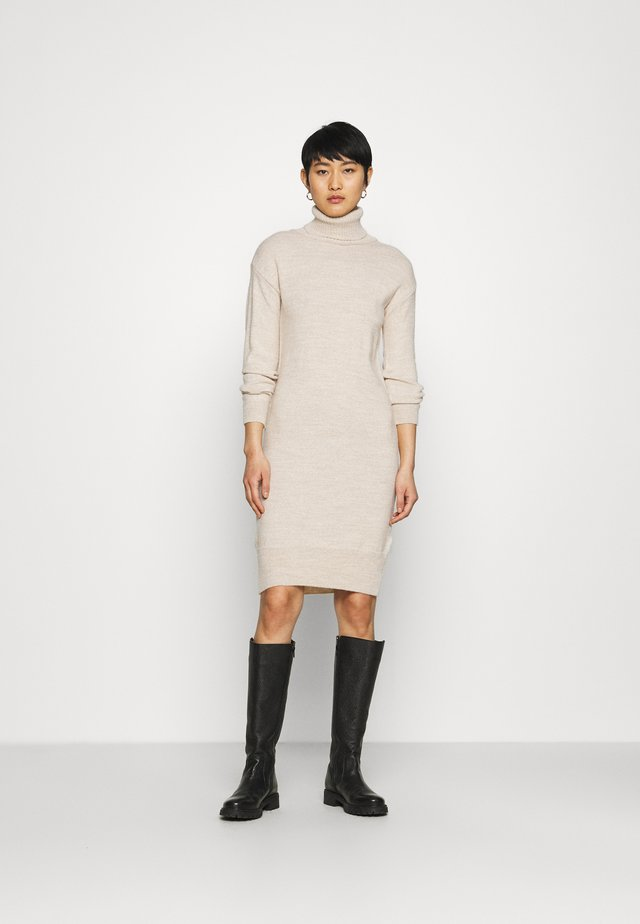 COSY ROLL NECK DRESS - Jumper dress - oatmeal