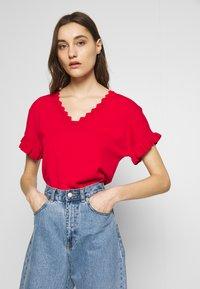 NAF NAF - CUTY - Camiseta básica - lipstick - 0
