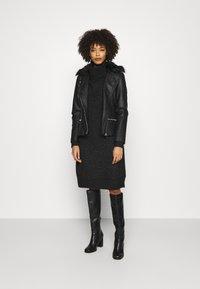 Wallis - BIKER - Faux leather jacket - black - 1
