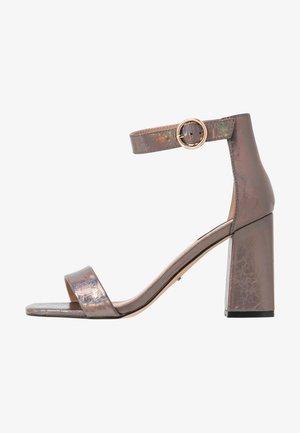 ONLALYX - Sandály na vysokém podpatku - gunmetal