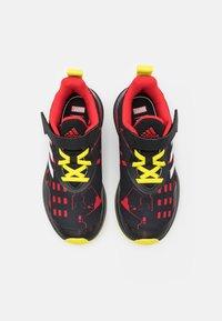 adidas Performance - FORTARUN SUPERHERO UNISEX - Neutral running shoes - core black/footwear white/vivid red - 3
