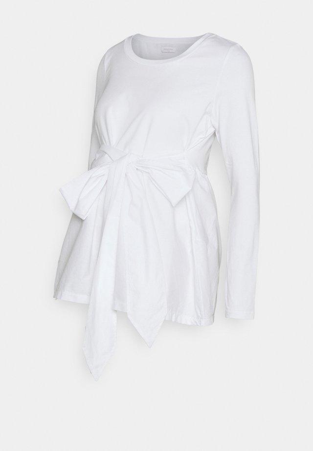 MLCAROLINA - Top sdlouhým rukávem - bright white
