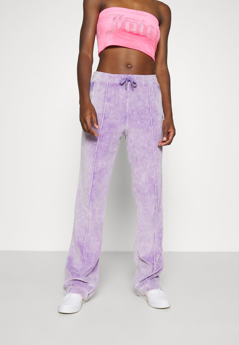 Juicy Couture - TINA TRACK PANTS - Trainingsbroek - pastel lilac acid wash