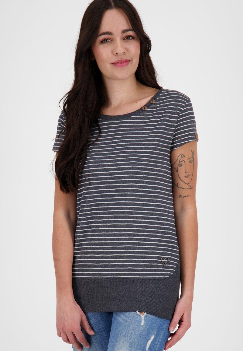 alife & kickin - COCOAK  - Print T-shirt - marine