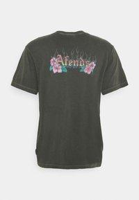 Afends - POWERLINES RETRO FIT TEE UNISEX - Print T-shirt - stone black - 1