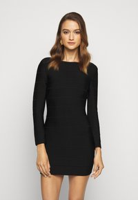 Hervé Léger - ICON LONG SLEEVE DRESS - Shift dress - black - 0