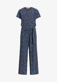 WE Fashion - MET STIPPENDESSIN - Jumpsuit - dark blue - 2